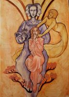 Goddess Heydrich Holle Reunion with parents by hello-heydi