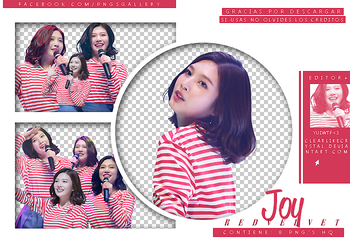 #045 | Pack PNG | Joy | Red Velvet by jellycxt