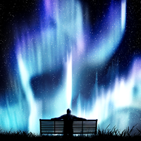 Bench of Dreams and Magic Lights by MindSqueeZe