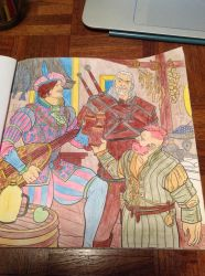 The Witcher Adult Coloring Book: Page 1 by SlugNasty
