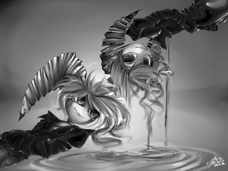 Azel and Axel commission by SpadesArts