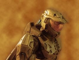 Master Chief - Sand by Darth-Sheba