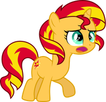 Filly Sunset Shimmer by CloudyGlow