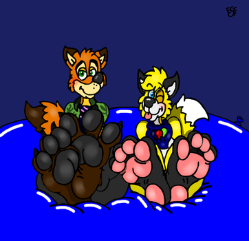 Nick and Louie paws by Coolfruits