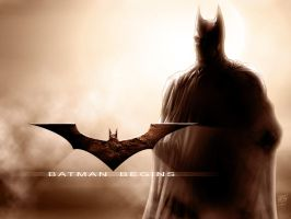 BATMAN BEGINS by particle9