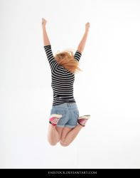 Jumping - Action Pose Reference 2 by faestock
