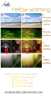 Yellow warming (PS Action) by Andriandreo