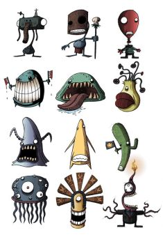 Random characters by Si2