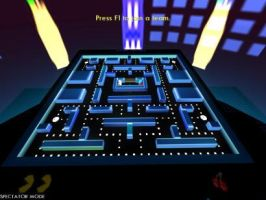 Pac Attack - TRON 2.0 Custom Fan-Made LC Map by redrain85