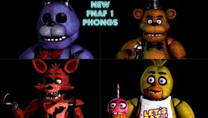 New FNAF 1 Phongs by offhandatol