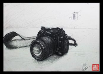Camera Drawing (un-life object) by XLordAndyX