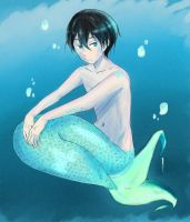 Mer!Haru - Future Fish AU by Loonymic