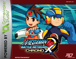 MMBN Chrono X Instruction Booklet (cover) by DArkDeviant-0