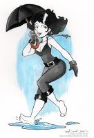 death in the rain by katiecandraw