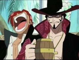 Shanks and Mihawk by Bloody-Butterfly666