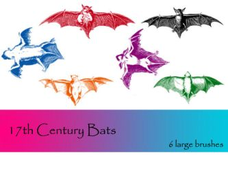 17th Century Bats by TD-Brushes