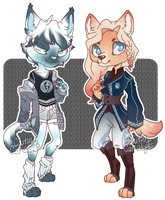 [2/2 OPEN] Anthro Set Price Adopts by caitiecat-adopts
