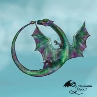 Auryn'san Male Teal Green Dragon by StephanieSmall