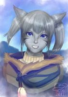 Young Miqo'te by Poticceli