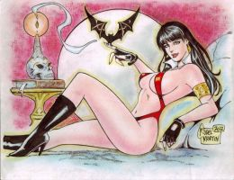 Vampirella (#1B) (COLOR) by Rodel Martin by VMIFerrari