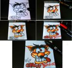 Crash Bandicoot (sketch on block notes) by Polimar69