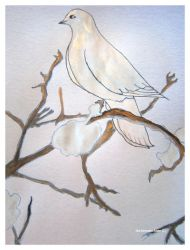 silver gold dove by GeaAusten