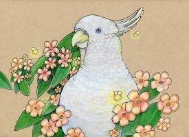 Floral Cockatoo by NickiDoodles