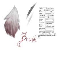 #01 Paint Tool Sai Brush - Long Fur Brush by CatBrushes