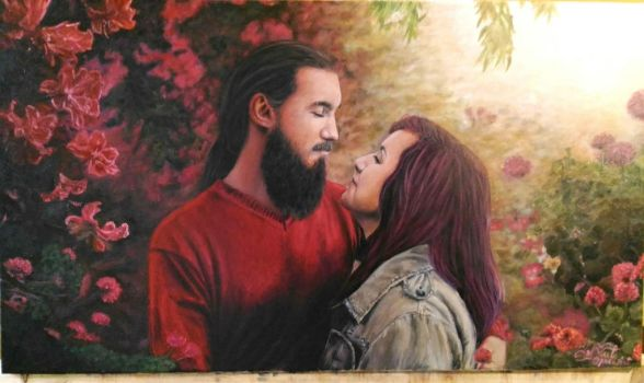 The Story of forever you and me  ( painting) by adoreluna