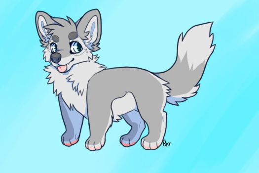 Chibi Wolf Editable by Purrfectpal