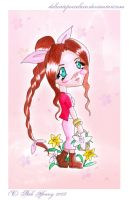 Chibi Aeris for miracleangel by delicateporcelain