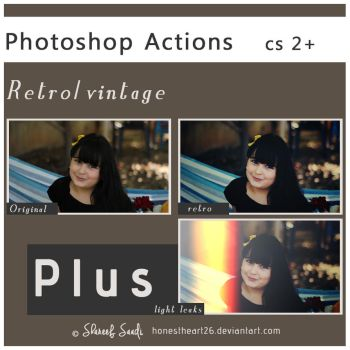 photoshop actions retro by Honestheart26