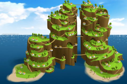 The Sprouting Islands of Elm Tree by mlvnsnmgl