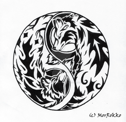 Ying Yang Wolf by Gray-Ghost-Creations