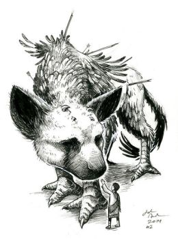 Inktober 2014 #2 The Last Guardian by yohunny