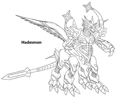 Hadesmon Re-Draw WIP by Midnitez-REMIX