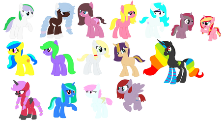 MLP: Small Redesigns On My MLP Characters (SP) by Blueberry-MLP