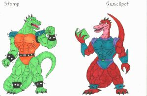 Dinosaucers Upgrade 7 Stomp, Quackpot. by darkcolorfulspots