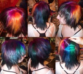 Rainbow Hair by cheshiresavage