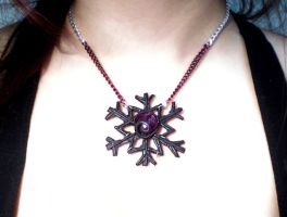 Snowflake Necklace by FelineArtisan
