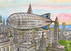 Airship Zeppelin by DianaKennedy