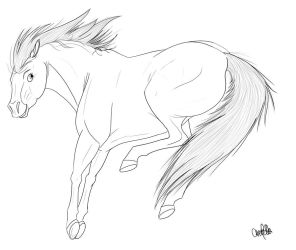 Horse- FREE Lineart by Spiritwollf