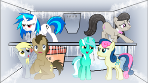 Ponies in the Freezer! by ryuuichi-shasame