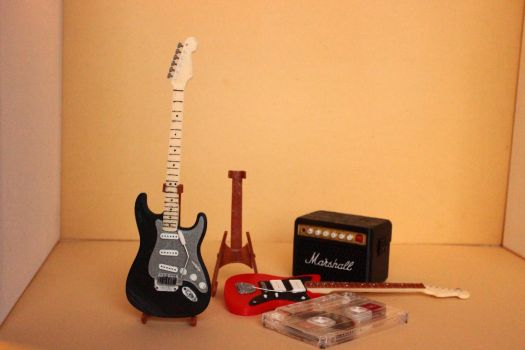 3D Printed Guitars and Amp 06 by houssamica
