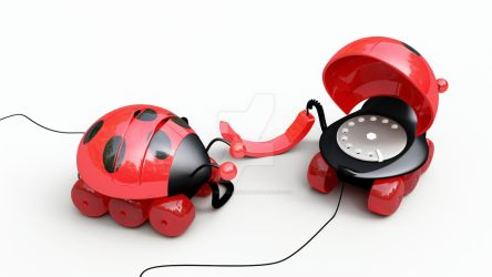 ladybug phone by the-nucularman