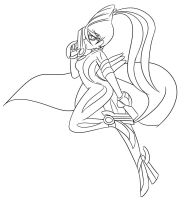 Bayonetta: Crossroads of Twilight :Lineart: by Xero-J