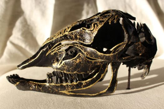 Brazen Serpent Skullpture by SAROScollective