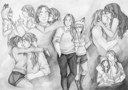 Couple Sketchpage for MasterAlpaCHINO by LonelyFullMoon