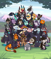 Earth/Water Class Graduation Collab by WowzaDawg