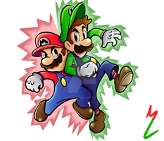 Mario  Luigi SuperStar Saga by Darkspike75